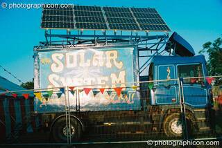 The Croissant Neuf solar energy truck at Big Green Gathering 2003. Cheddar, Great Britain. © 2003 Photographicon