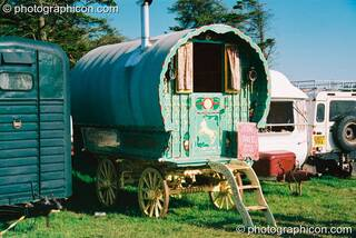 Traveller's caravan at Big Green Gathering 2003. Cheddar, Great Britain. © 2003 Photographicon