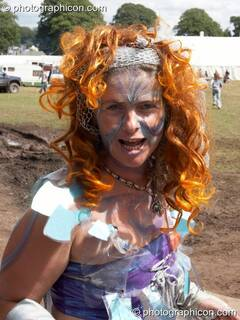 A woman in costume at Big Green Gathering 2005. Burrington, Cheddar, Great Britain. © 2005 Photographicon