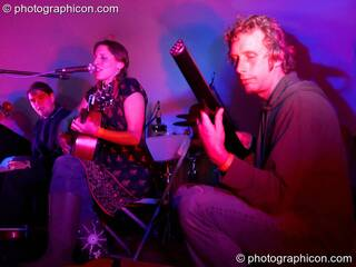 Martha Tilston & The Woods on the Small World Stage at Big Green Gathering 2005. Burrington, Cheddar, Great Britain. © 2005 Photographicon