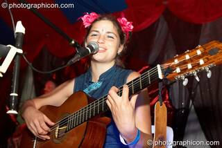 Dragonsfly playing on the Green Forum stage at Big Green Gathering 2006. Burrington, Cheddar, Great Britain. © 2006 Photographicon