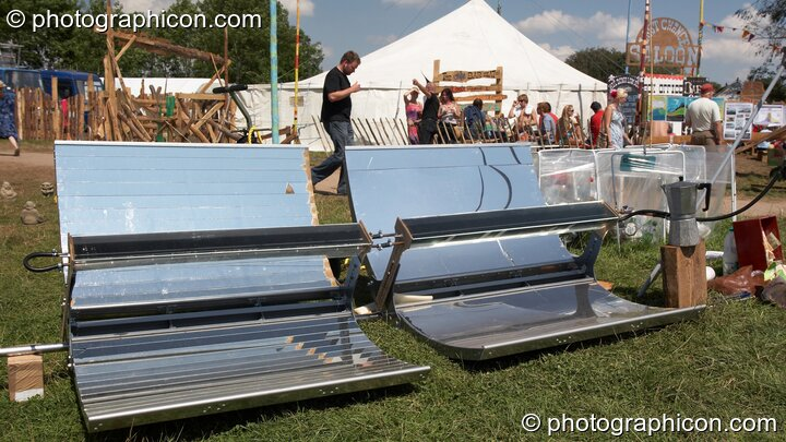 A solar-powered coffee stall at Big Green Gathering 2007. Burrington, Cheddar, Great Britain. © 2007 Photographicon