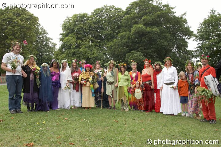 The ritual group at the Feast of the Magdalene. Glastonbury, Great Britain. © 2005 Photographicon