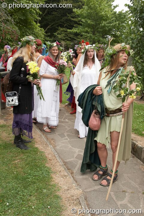 The ritual precession begins at the Feast of the Magdalene. Glastonbury, Great Britain. © 2005 Photographicon