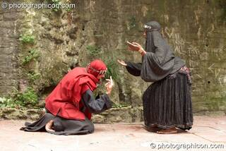 A man and woman perform a ritual dance to Mary Magdelene & Yeshua at the Feast of the Magdalene. Glastonbury, Great Britain. © 2005 Photographicon