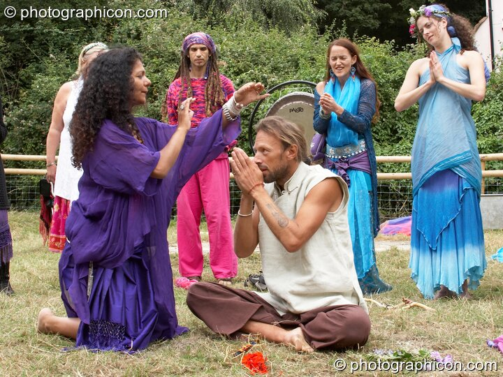Ceremonial dance of the 7 Aspects of Magdalene at the Feast of the Magdalene. Glastonbury, Great Britain. © 2005 Photographicon