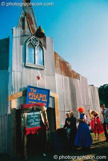 The Chapel of Love or Loathe in the Lost Vagueness field at Glastonbury Festival 2003. Pilton, Great Britain. © 2003 Photographicon