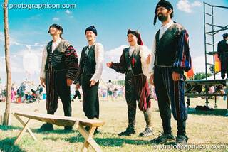 The Theatre of Now perform Romeo and Juliet in the Green Futures field at Glastonbury Festival 2003. Pilton, Great Britain. © 2003 Photographicon