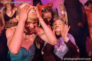 Undercurrents do S&M with Bush & Blair in the Lost Vagueness Casino at Glastonbury Festival 2004. Pilton, Great Britain. © 2004 Photographicon