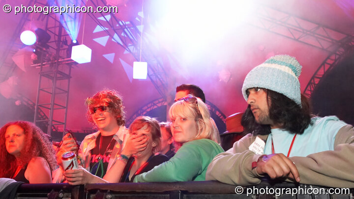 The audience in the Glade Stage at Glastonbury Festival 2008. Pilton, Great Britain. © 2008 Photographicon