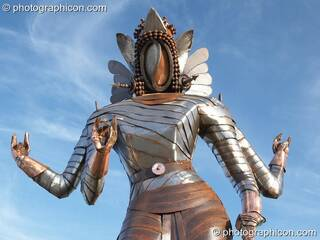 A large statue of the Hindu goddess Kali in the Craft Field at Glastonbury Festival 2008. Pilton, Great Britain. © 2008 Photographicon