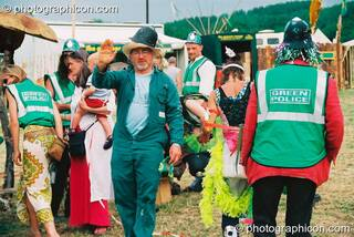 Des Kay, founder of the Green Police, at Glastonbury Festival 2003. Pilton, Great Britain. © 2003 Photographicon