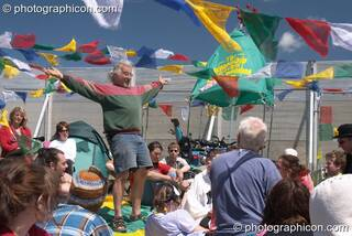 Des Kay, founder of the Green Police, at Glastonbury Festival 2004. Pilton, Great Britain. © 2004 Photographicon
