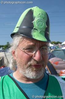 Des Kay, founder of the Green Police at Glastonbury Festival 2005. Pilton, Great Britain. © 2005 Photographicon