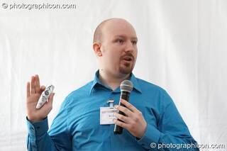 Brian Robertson at the Renaissance2 Great Shift Gathering 2009. Perpignan, France. © 2009 Photographicon