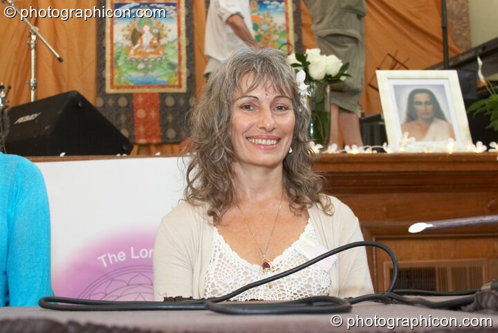 Mahasatvaa Ma Ananda Sarita on the discussion panel at the London Festival of Tantra 2008. Great Britain. © 2008 Photographicon