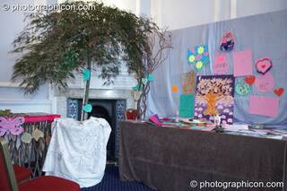 Tree of Love stall at London Festival of Tantra 2009. Great Britain. © 2009 Photographicon