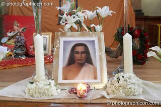 Babaji shrine at London Festival of Tantra 2009. Great Britain. © 2009 Photographicon
