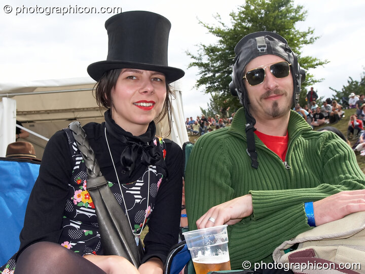 A man and woman in wonly costume at the Secret Garden Party 2006. Huntingdon, Great Britain. © 2006 Photographicon