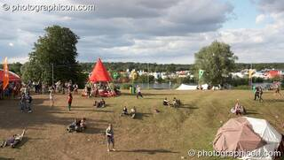 View of the festival site from the top of The Tower at the Secret Garden Party 2007. Huntingdon, Great Britain. © 2007 Photographicon