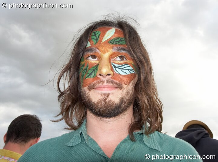 A man with face paint at the Secret Garden Party 2007. Huntingdon, Great Britain. © 2007 Photographicon