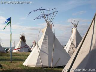 The Tipi Village at Sunrise Celebration 2006. Yeovil, Great Britain. © 2006 Photographicon