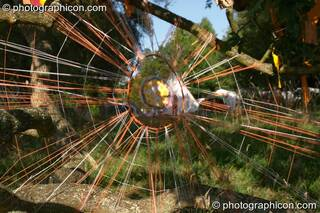 Large Dream Catchers at the Turaya Gathering 2004. Wimborne, Great Britain. © 2004 Photographicon