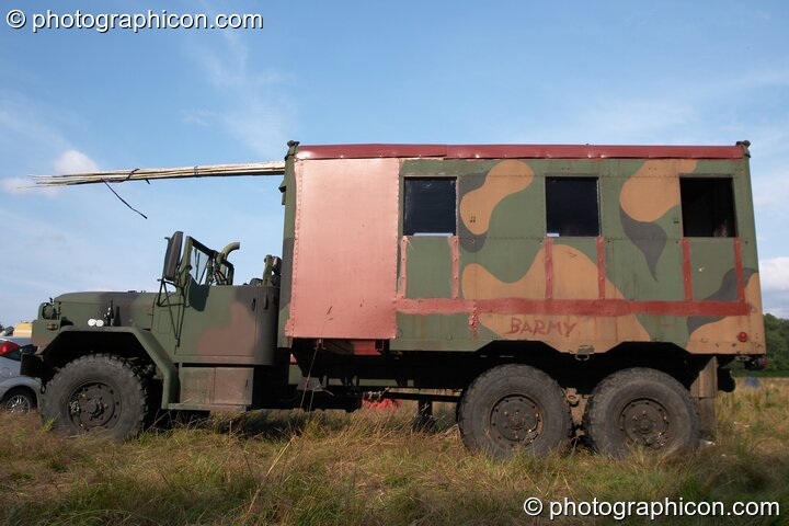 Ex-army truck at the Turaya Gathering 2004. Wimborne, Great Britain. © 2004 Photographicon