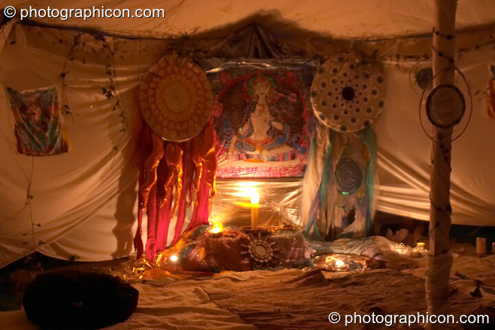 The White Tara Temple at the Turaya Gathering 2004. Wimborne, Great Britain. © 2004 Photographicon