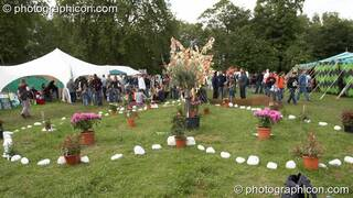 The Heart Garden in the Healing Area at Kingston Green Fair 2006. Kingston upon Thames, Great Britain. © 2006 Photographicon
