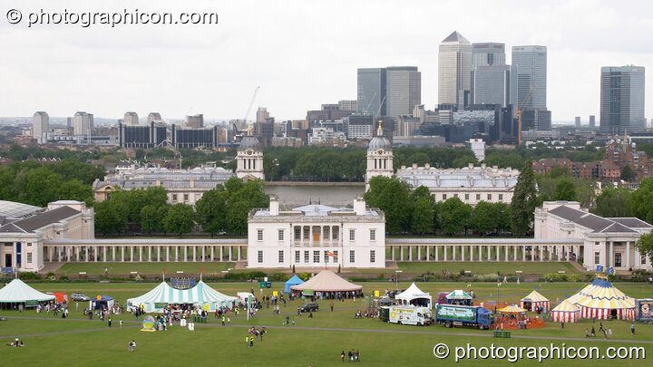 Marquees in front of the Queen's House in Greenwich Park at the London Green Lifestyle Show 2005. Great Britain. © 2005 Photographicon