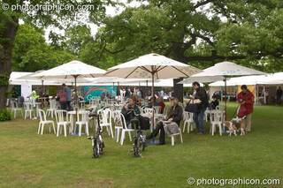 An outdoor cafe at the London Green Lifestyle Show 2005. Great Britain. © 2005 Photographicon
