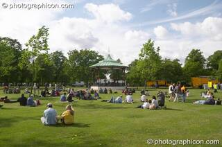 The bandstand in Greenwich Park at the London Green Lifestyle Show 2005. Great Britain. © 2005 Photographicon
