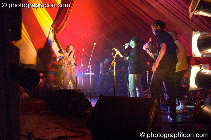 The Beat on the main stage at the Lost Vagueness Summer Party 2004. Lewes, Great Britain. © 2004 Photographicon