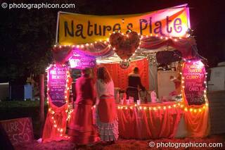 Nature's Plate cafe at the Lost Vagueness Summer Party 2004. Lewes, Great Britain. © 2004 Photographicon