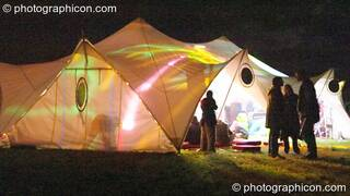 The chillout tent at Wing Makers Solstice 2005. Launceston, Great Britain. © 2005 Photographicon