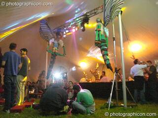 The Dragonfly decor insdie the chillout tent at Wing Makers Solstice 2005. Launceston, Great Britain. © 2005 Photographicon