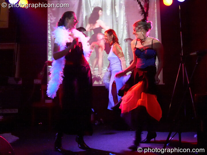 Dancing Girls at the Save The World Club Burlesque Ball. Kingston upon Thames, Great Britain. © 2005 Photographicon