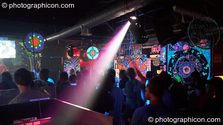 Decor in the Digital Disco space at Indigitous. London, Great Britain. © 2006 Photographicon