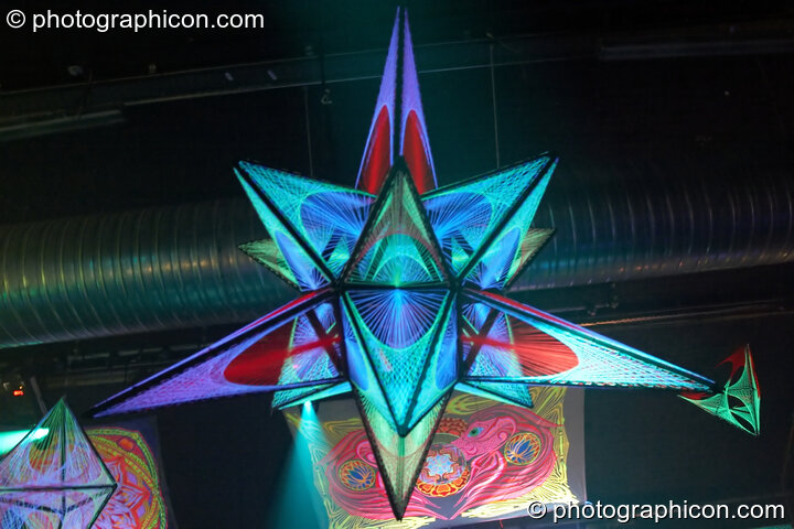 StringArt by Optical illusionS in the Digital Disco space at Echo System. London, Great Britain. © 2006 Photographicon