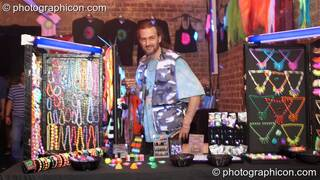 UV jewellery stall at Echo System. London, Great Britain. © 2006 Photographicon