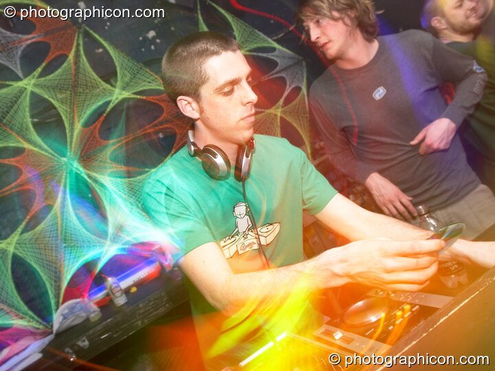 DiscoStu playing in the Digital Disco space at Echo System. London, Great Britain. © 2006 Photographicon