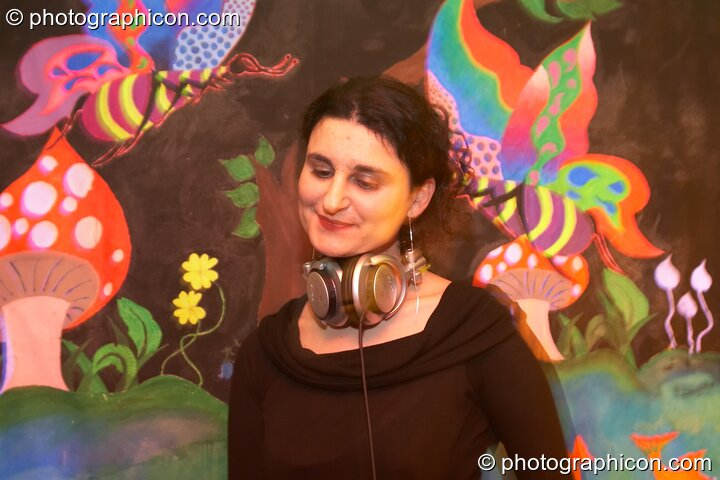 Tamara DJing in the Funky Beats Chillout at Chrysalid. London, Great Britain. © 2006 Photographicon