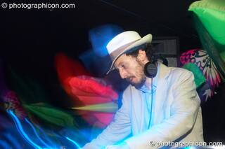 Dimitri DJing on the Tribe of Frog stage at the Twisted Records 10th Birthday Party. London, Great Britain. © 2006 Photographicon