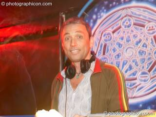Aliji DJing in the Chill room at the Liquid Records party. London, Great Britain. © 2007 Photographicon