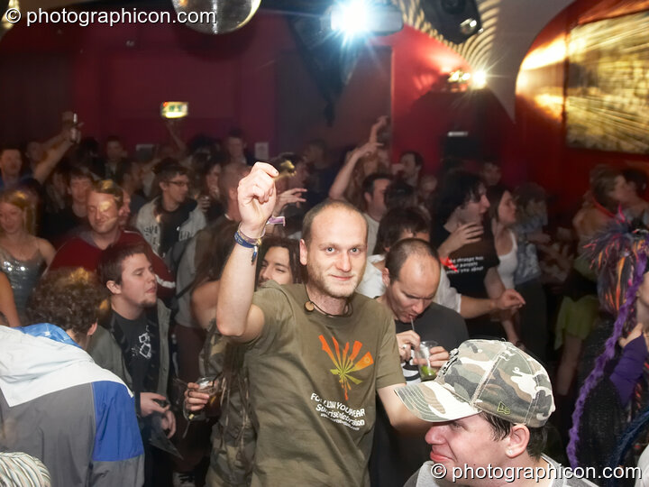 A man dances in the Main Room at Future Music Vol. 1. London, Great Britain. © 2007 Photographicon
