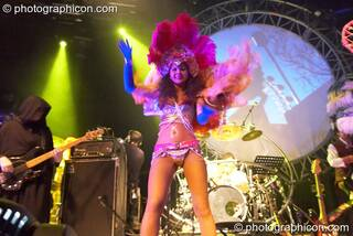 Dancing girls perform in exotic erotic costume at Shpongle Live in Concert. London, Great Britain. © 2008 Photographicon