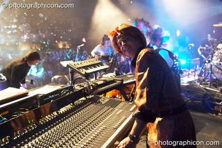 Dick Trevor performs on keyboard and mixer with Shpongle at Shpongle Live in Concert. London, Great Britain. © 2008 Photographicon