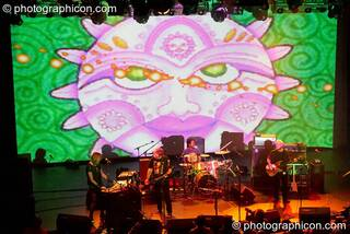 The Steve Hillage Band perform at the Kentish Town Forum, with visual projections by ColourSound. London, Great Britain. © 2009 Photographicon