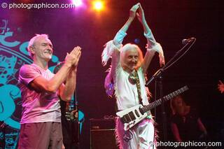 Mike Howlett, and Daevid Allen of  Planet Gong perform at the Kentish Town Forum. London, Great Britain. © 2009 Photographicon